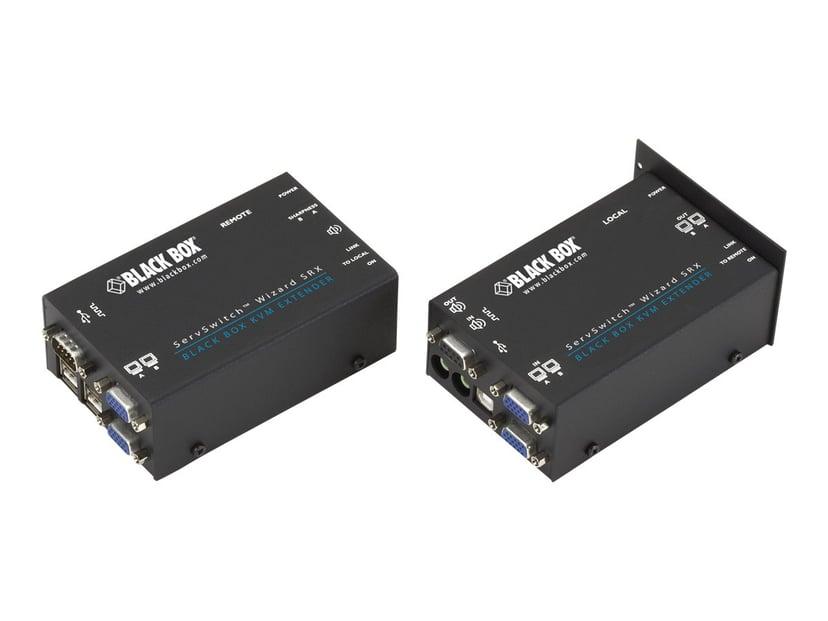 Black Box KVM Extender Over CATX - Dual VGA Audio USB 2.0