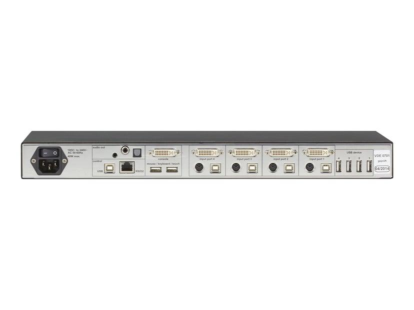 Black Box 4Site Flex KVM Multiviewer - DVI-I USB 4-Port