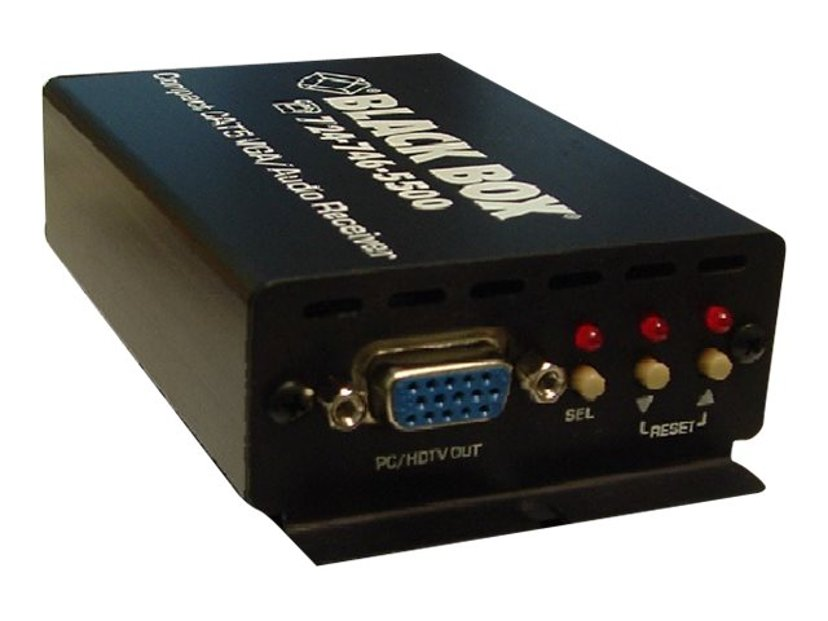 Black Box Compact CAT5 Audio/Video Receiver