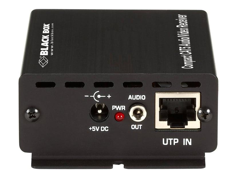 Black Box Compact CAT5 Audio/Video Receiver