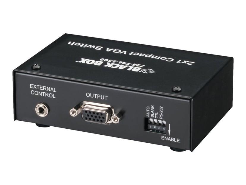 Black Box Compact VGA Switch 2 x 1