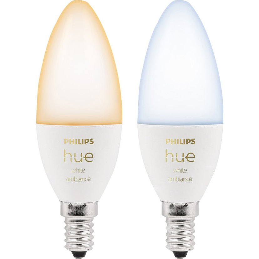 Philips Hue White Ambiance 6W E14 BT 2-pack