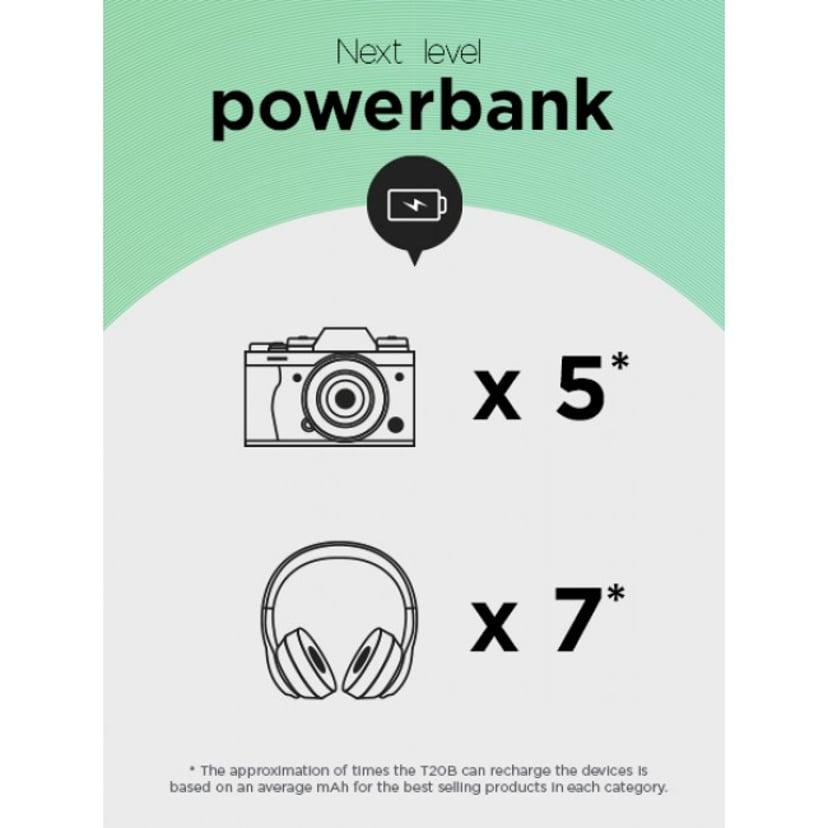 GP Powerbank T20B 20000mAh USB-C PD Charging 65W Grå
