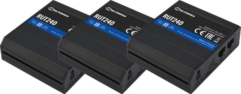 Teltonika RUT240 Industrial LTE Wireless Router 3-pack