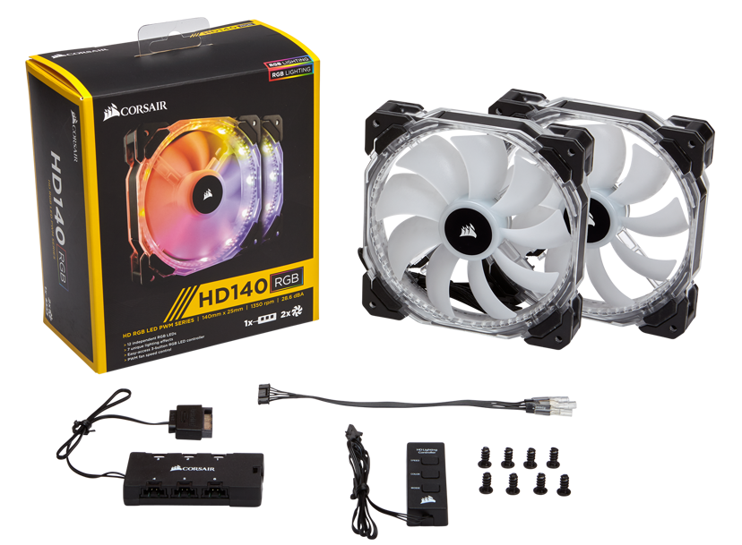Corsair HD140 RGB LED 2-Pack with Controller