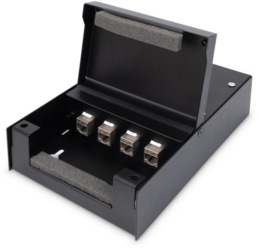 Digitus Keystone Box 4-Port IP20 Svart