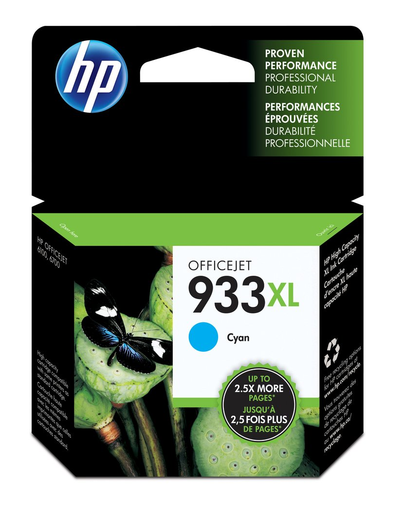 HP Blekk Cyan 933XL - OJ 6100/6600/6700 Premium