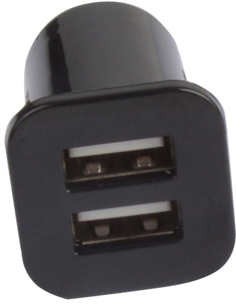 Cirafon Bil lader 2Amp 2stk. USB Svart