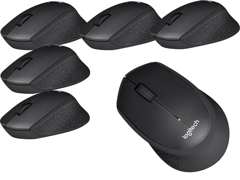 Logitech M330 Wireless Silent Plus - 6 pack 1,000dpi Mus Trådløs Svart