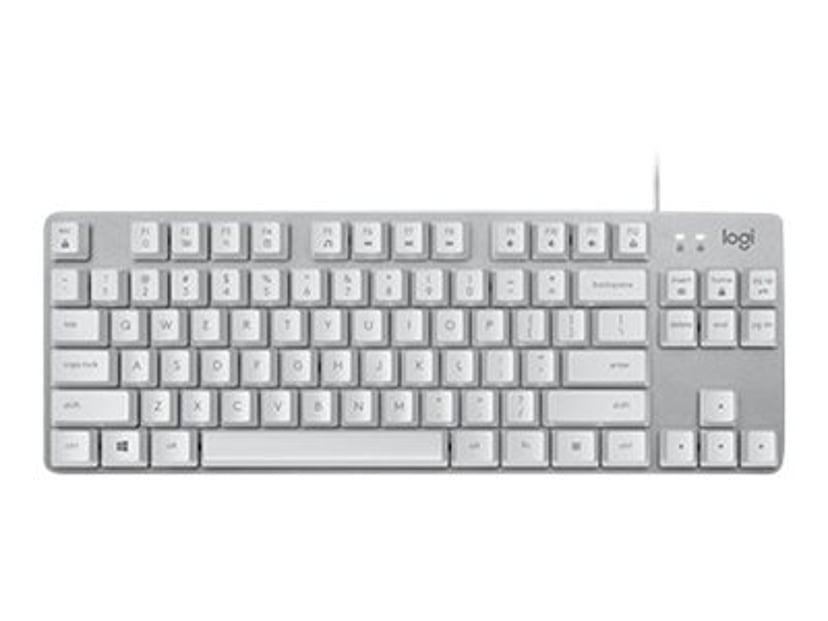 Logitech K835 Tkl Mechanical Keyboard Silver/White Tangentbord Kabelansluten Nordisk Silver, Vit
