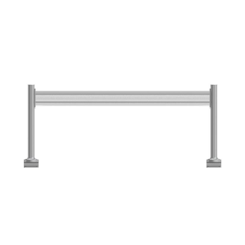 Kondator Toolbar System Enkel skinne inkl. 2 stolper – Bord 1600 mm