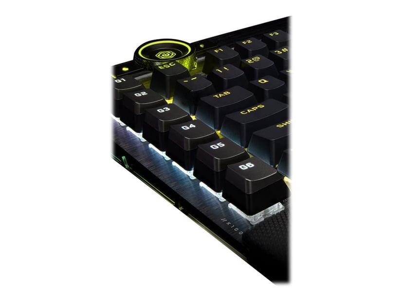 Corsair K100 RGB Mechanical Keyboard Tangentbord Kabelansluten Nordisk Svart