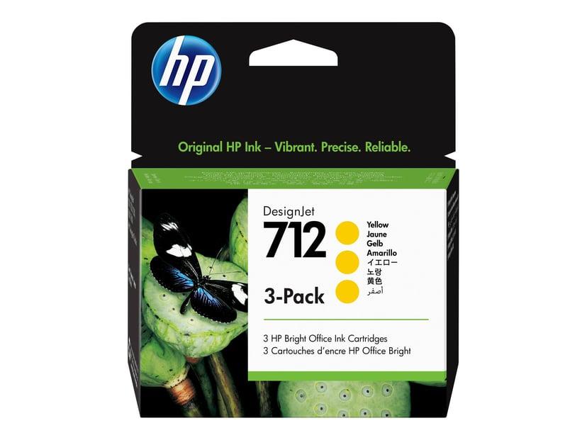 HP Blæk Gul 712 29ml 3-Pack