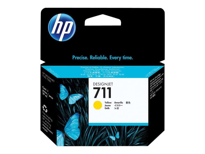 HP Bläck Gul 711, 29ml - DJ T120 #Köp