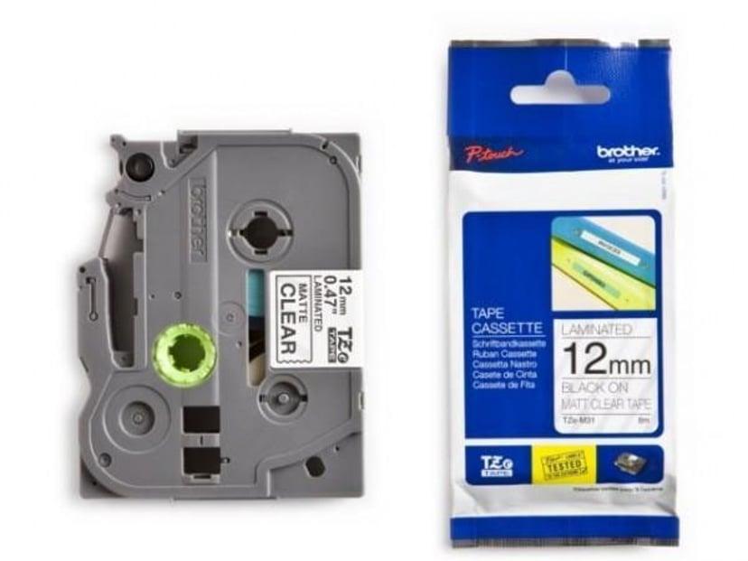Brother Tape TZE-M31 12mm Sort/Transparent