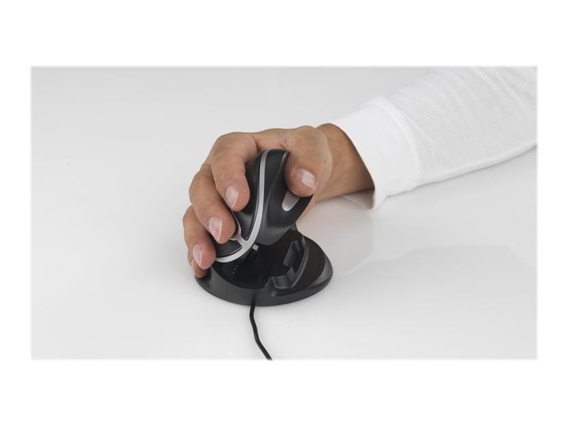 Oyster Mouse Wired 1,000dpi Vertikal mus Kabelansluten Svart