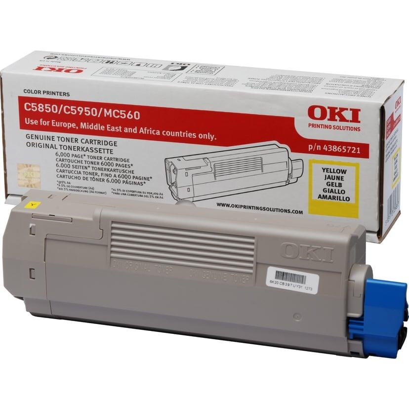 OKI Toner Geel 6k - C5850/5950
