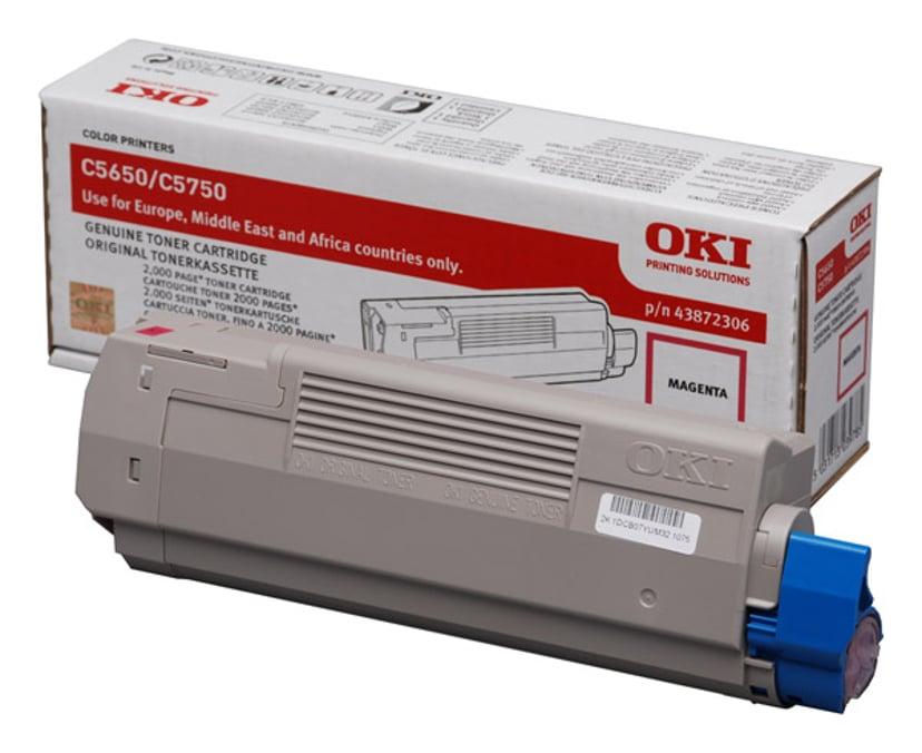 OKI Värikasetti Magenta 2k - C5650/5750