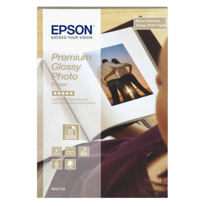 Epson Papper Photo Premium Glossy 10X15cm 40-ark 255G