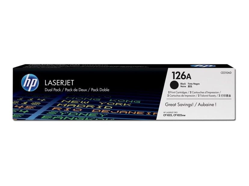 HP Toner Svart 1.2K - CE310AD 2-Pack