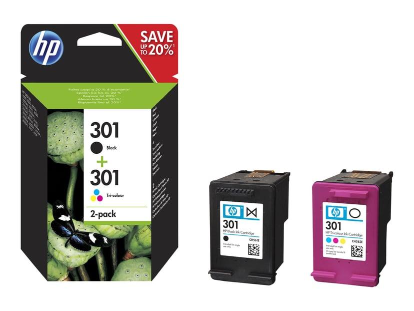 HP Blekk Combo Pack No.301 (Black,Color)
