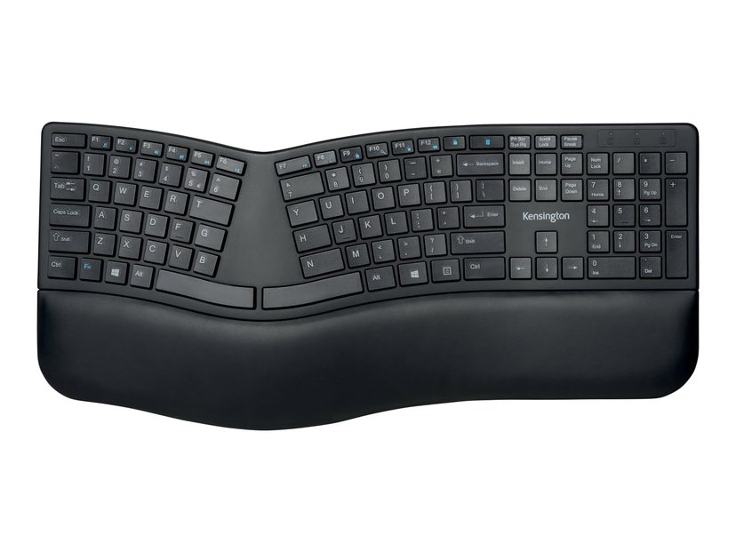 Kensington Pro Fit Ergo Wireless Keyboard Trådlös Tangentbord Hela norden Svart