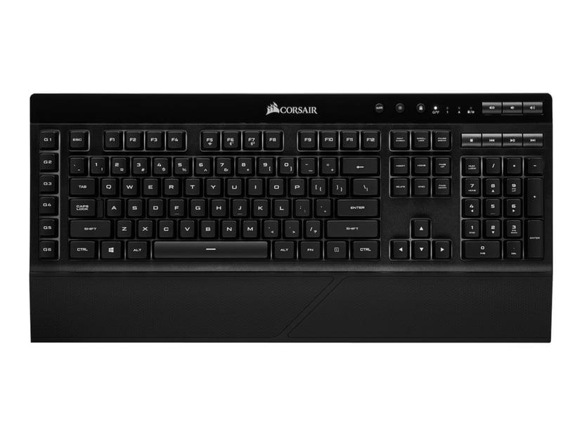 Corsair K57 RGB Kablet, Trådløs Tastatur Nordisk Svart