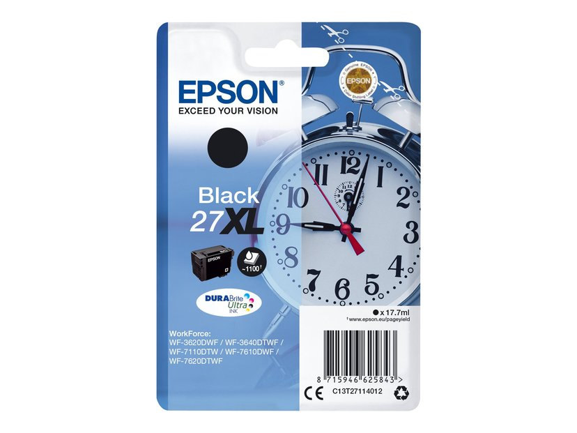 Epson Blæk Sort 27XL #Köp