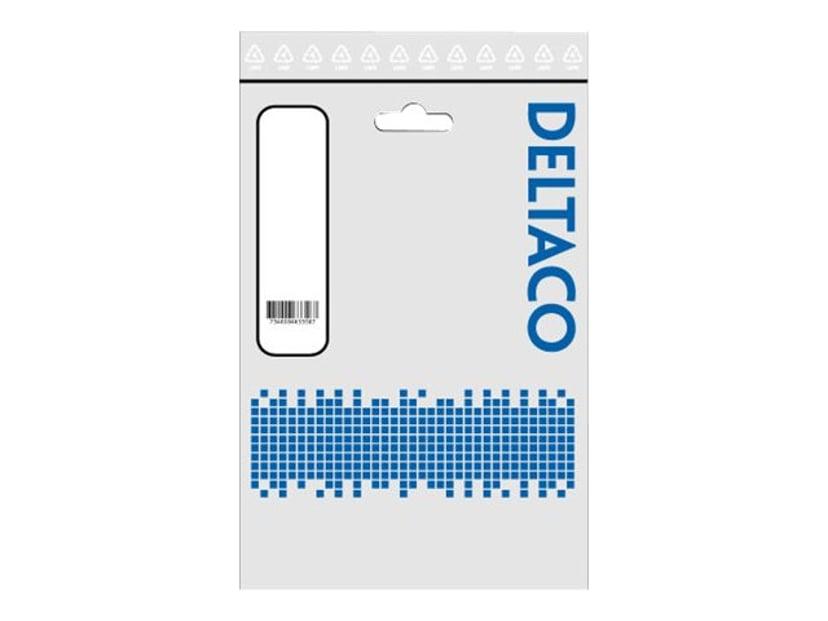 Deltaco DEL-109US 2m Ström, NEMA 5-15 Hane Ström IEC 60320 C13
