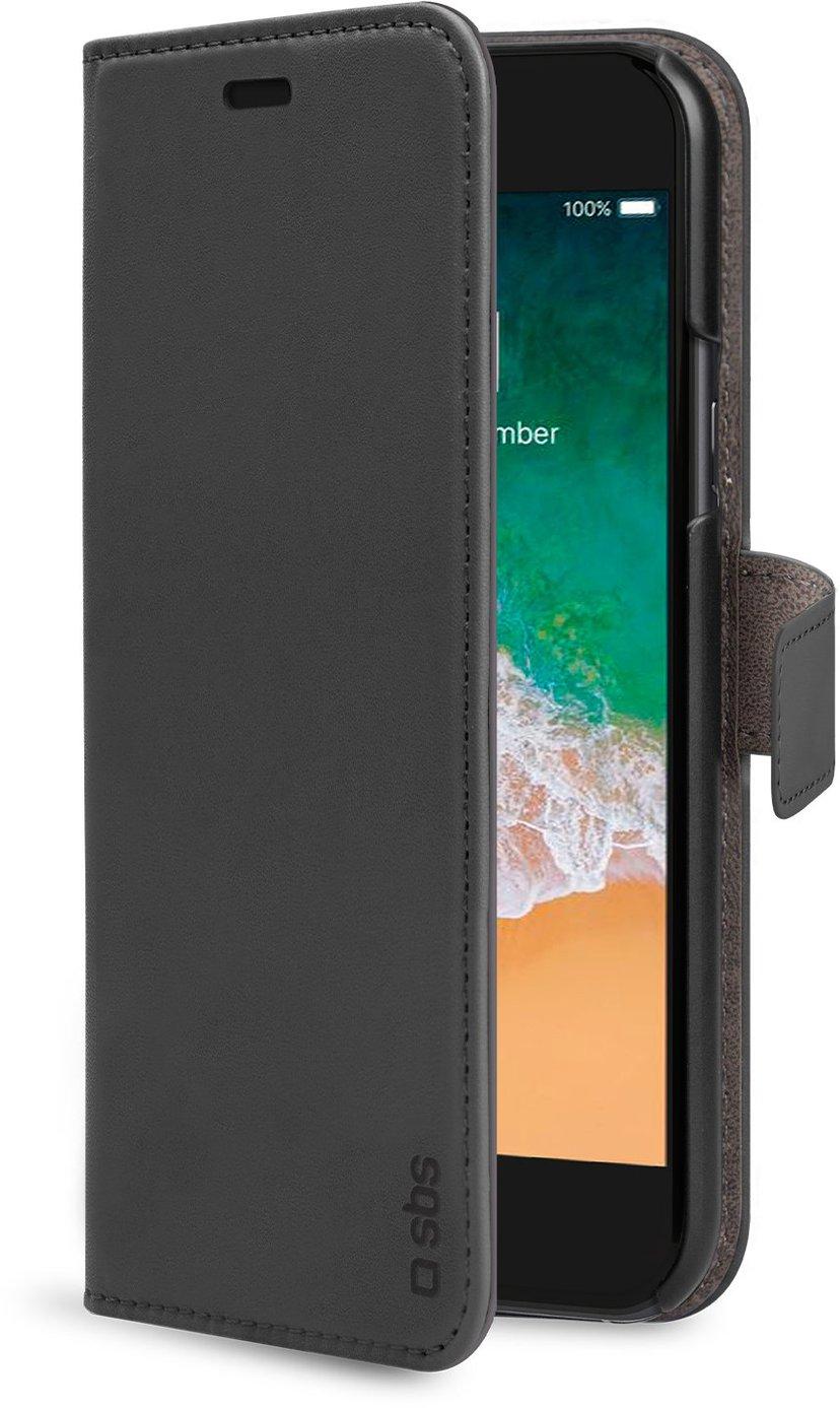 sbs PU Wallet iPhone 7, iPhone 8, iPhone SE (2020) Svart