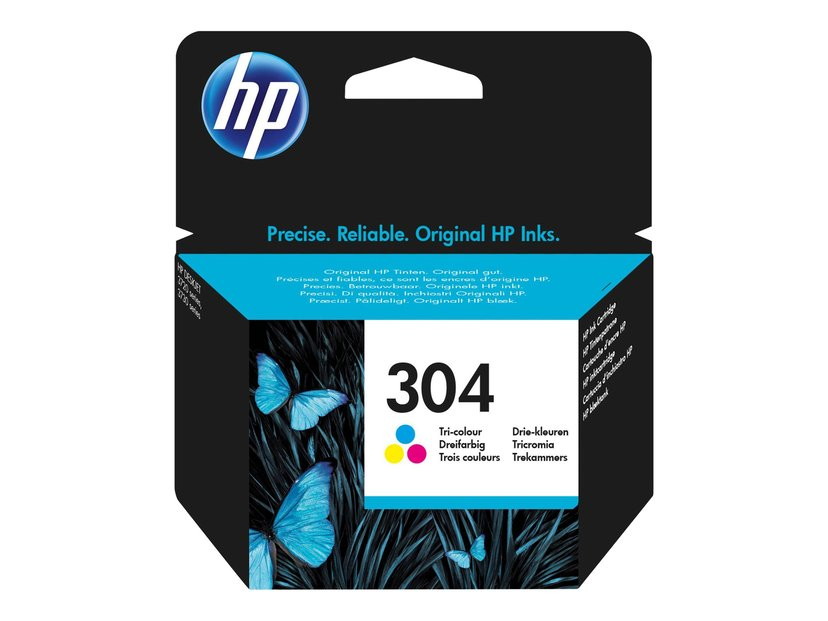 HP Blekk Tri-Color No.304 - Deskjet 3720/3730/3732