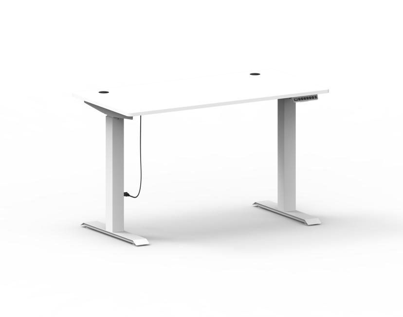Nordic Office FlexiDesk Home Højdejusterbart Bord 120X60cm Hvid