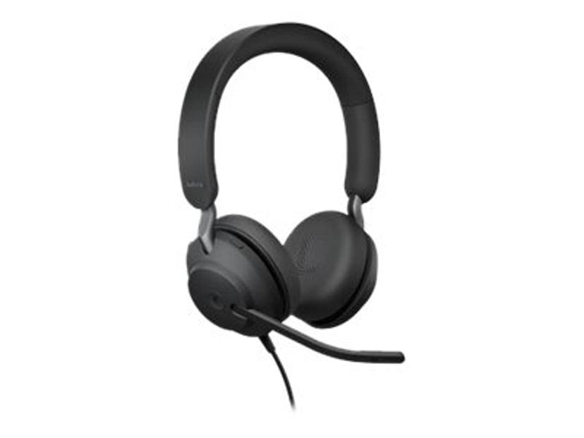 Jabra Evolve2 40 MS Stereo #demo Svart