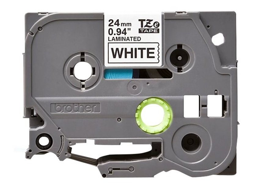 Brother Tape TZe-SL251 24mm Selvlaminerende Sort/Hvit