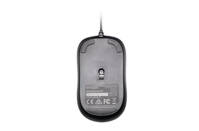 Kensington Kensington Valumouse Three-Button Wired Mouse Svart Mus Kabelansluten 1,000dpi