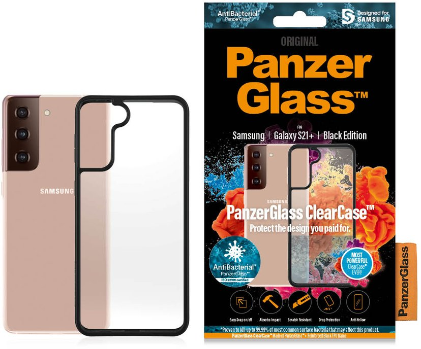 Panzerglass Clearcase BlackFrame Svart Samsung Galaxy S21+