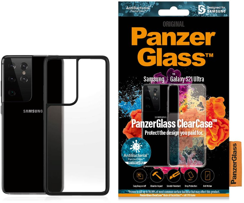 Panzerglass Clearcase BlackFrame Samsung Galaxy S21 Ultra Sort