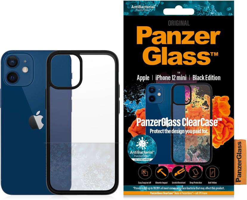 Panzerglass Clearcase BlackFrame iPhone 12 Mini Klar, Svart