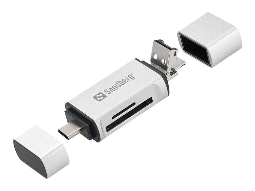 Sandberg - Kortläsare (SD, microSD)