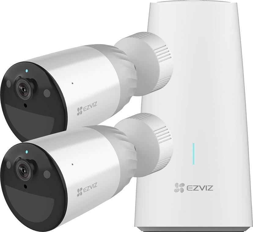 Ezviz BC1 basestasjon + 2 kameraer