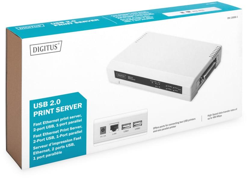 Digitus Skrivarserver USB/Paralell