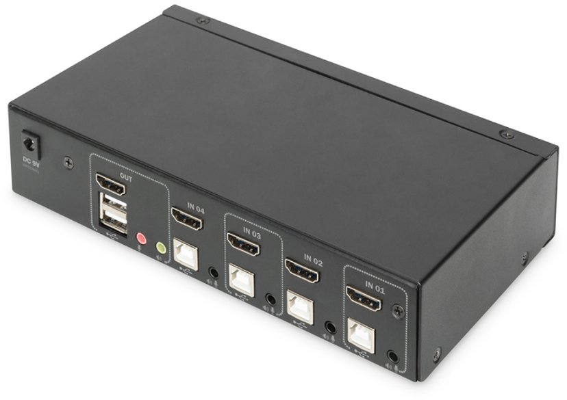 Digitus 4-porters 4K HDMI KVM-svitsj
