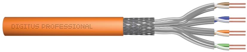 Digitus Bulkkabel CAT 7 Trådpar i metallfolie (PiMF) Oransje 1,000m