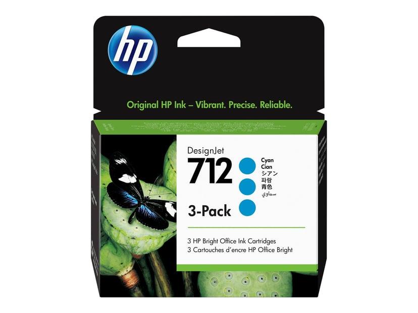 HP Blæk Cyan 712 29ml 3-Pack