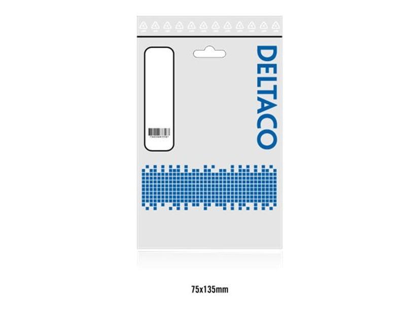 Deltaco Adapter F-stik Han