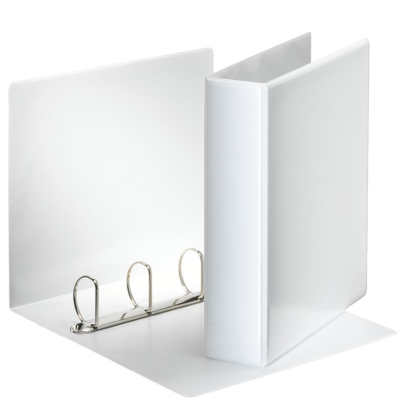 Esselte Panoramakansio A4 4-D Ring 2 Ulkotaskua Valkoinen 10-Pakkaus