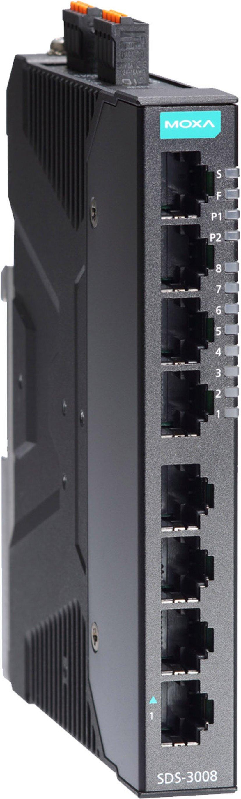Moxa SDS-3008 Industriell Smart 8-port Switch