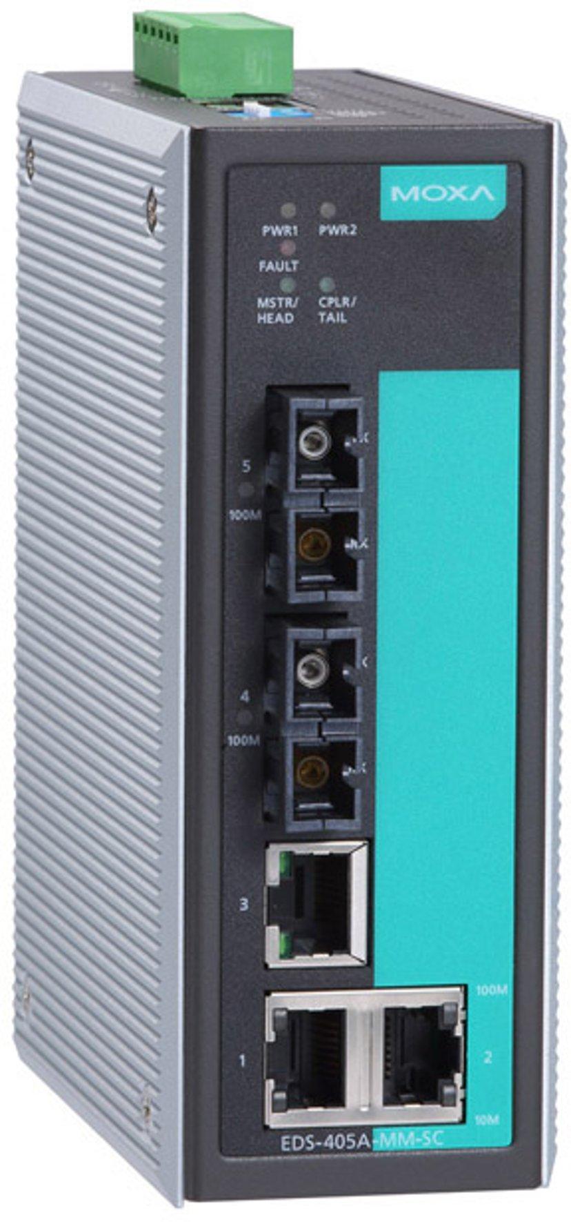 Moxa EDS-405A Industriell Hanterad 5-port Switch
