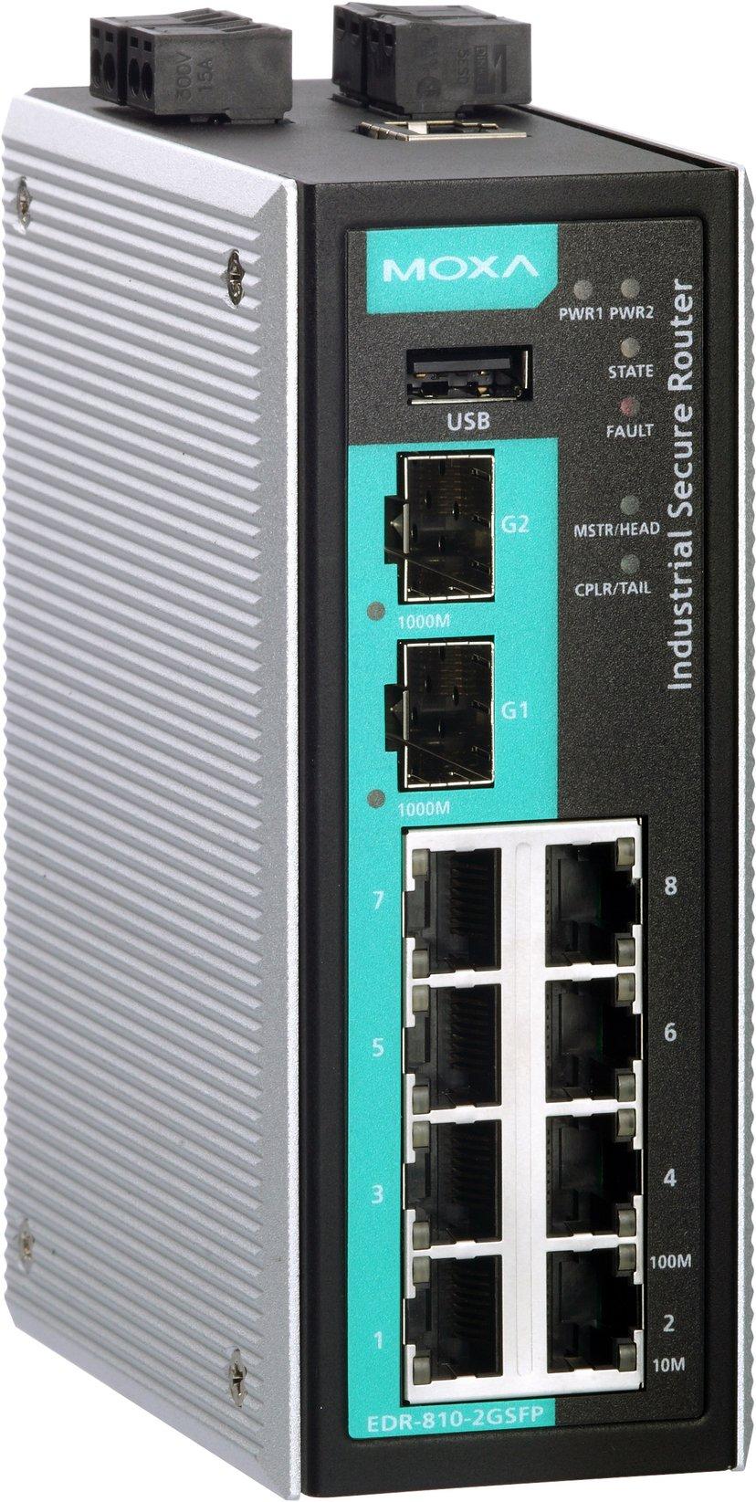 Moxa EDR-810-VPN-2GSFP Industriell brandvägg