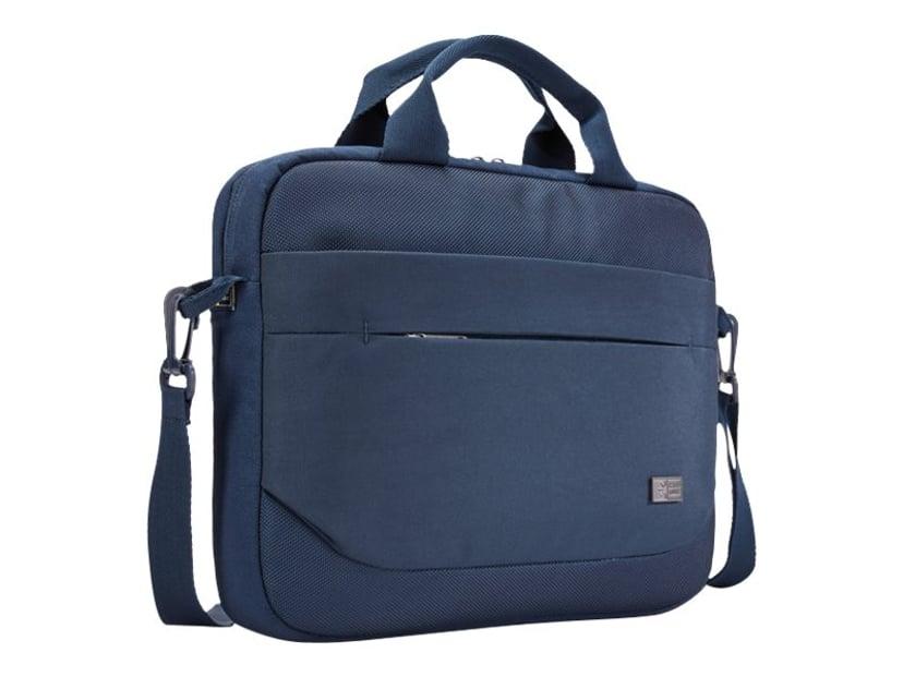 "Case Logic Advantage Laptop Attaché 11.6"" Dark Blue 10.1"" - 12"", 12"" Polyester"